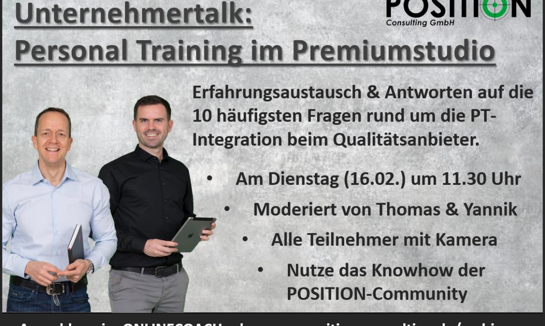 Unternehmertalk: Personal Training im Premiumstudio